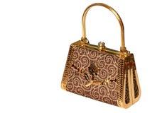 τσάντα χρυσή στοκ εικόνα