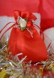Τσάντα δώρων, σκηνή Χριστουγέννων, διακόσμηση στοκ φωτογραφίες με δικαίωμα ελεύθερης χρήσης