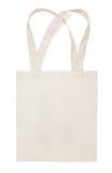 Τσάντα eco βαμβακιού υφάσματος στο λευκό Στοκ φωτογραφία με δικαίωμα ελεύθερης χρήσης