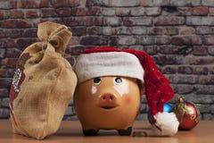 Τσάντα Piggy και δώρων Στοκ φωτογραφία με δικαίωμα ελεύθερης χρήσης