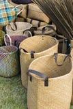 Τσάντες αγορών αχύρου Στοκ Εικόνες