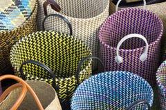 Τσάντες αγορών αχύρου Στοκ φωτογραφίες με δικαίωμα ελεύθερης χρήσης