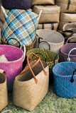 Τσάντες αγορών αχύρου Στοκ εικόνες με δικαίωμα ελεύθερης χρήσης