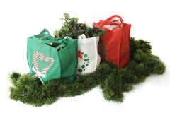 Τσάντες αγορών Χριστουγέννων Στοκ Φωτογραφίες