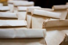 Τσάντες καφετιού εγγράφου στοκ φωτογραφίες με δικαίωμα ελεύθερης χρήσης