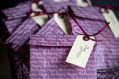 Τσάντες δώρων στη γιορτή γενεθλίων Στοκ εικόνα με δικαίωμα ελεύθερης χρήσης
