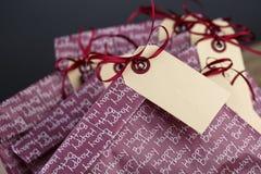 Τσάντες δώρων στη γιορτή γενεθλίων Στοκ Εικόνες