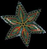 Τσέκια και πολύχρωμα Snowflakes χαντρών Στοκ φωτογραφία με δικαίωμα ελεύθερης χρήσης