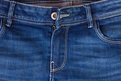 Τσέπη και φερμουάρ τζιν στοκ φωτογραφία με δικαίωμα ελεύθερης χρήσης