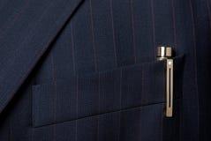τσέπη πεννών σακακιών μελαν& Στοκ Φωτογραφία