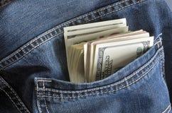 Τσέπη και χρήματα Στοκ εικόνες με δικαίωμα ελεύθερης χρήσης