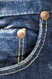 τσέπη τζιν παντελόνι στοκ εικόνα