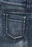 τσέπη τζιν παντελόνι Στοκ Φωτογραφία