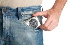τσέπη φωτογραφικών μηχανών Στοκ Εικόνες