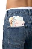 τσέπη χρημάτων τζιν Στοκ εικόνα με δικαίωμα ελεύθερης χρήσης