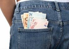 τσέπη χρημάτων τζιν Στοκ Φωτογραφία