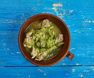 Τσίλι Verde χοιρινού κρέατος στοκ εικόνες με δικαίωμα ελεύθερης χρήσης