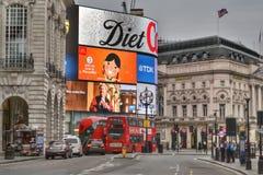 Τσίρκο Λονδίνο Piccadilly οδών αντιβασιλέων Στοκ Φωτογραφία