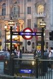 τσίρκο Λονδίνο piccadilly Στοκ Φωτογραφία