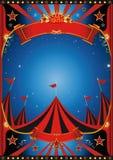 Τσίρκο νύχτας ουρανού διανυσματική απεικόνιση