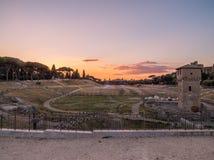 Τσίρκο Maximus στο ηλιοβασίλεμα, Ρώμη Στοκ εικόνες με δικαίωμα ελεύθερης χρήσης
