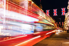 Τσίρκο Piccadilly στο Λονδίνο, UK, τη νύχτα Στοκ Εικόνα