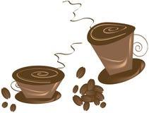 τσαγάκια καφέ καυτά Στοκ Φωτογραφία