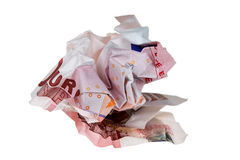 τσαλακωμένα χρήματα Στοκ φωτογραφία με δικαίωμα ελεύθερης χρήσης