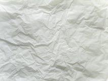 Τσαλακωμένο άσπρο κηρωμένο έγγραφο συσκευασίας Στοκ φωτογραφίες με δικαίωμα ελεύθερης χρήσης