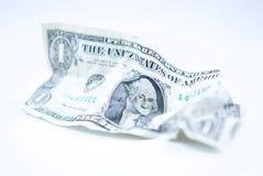 Τσαλακωμένο ΑΜΕΡΙΚΑΝΙΚΟ δολάριο Bill Στοκ Φωτογραφία
