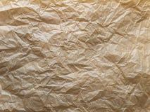 Τσαλακωμένο καφετί κηρωμένο έγγραφο συσκευασίας Στοκ Εικόνες