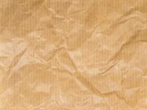 Τσαλακωμένο καφετί ριγωτό έγγραφο συσκευασίας Στοκ Εικόνα