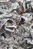 Τσαλακωμένες εφημερίδες Στοκ φωτογραφίες με δικαίωμα ελεύθερης χρήσης