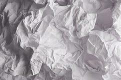 Τσαλακωμένη ζαρωμένη κυματιστή γκρίζα σύσταση εγγράφου, αφηρημένο υπόβαθρο πολυγώνων Στοκ Εικόνες