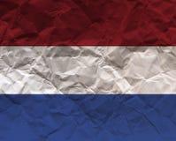 Τσαλακωμένη κατασκευασμένη σημαία εγγράφου - Κάτω Χώρες Στοκ εικόνες με δικαίωμα ελεύθερης χρήσης