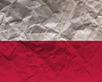 Τσαλακωμένη κατασκευασμένη σημαία εγγράφου - Πολωνία Στοκ εικόνα με δικαίωμα ελεύθερης χρήσης