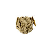 Τσαλακωμένη σφαίρα καφετιού εγγράφου που απομονώνεται στοκ φωτογραφία με δικαίωμα ελεύθερης χρήσης