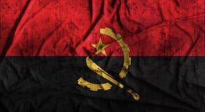 Τσαλακωμένη Grunge σημαία της Ανγκόλα τρισδιάστατη απόδοση Στοκ Φωτογραφίες