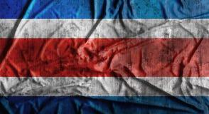 Τσαλακωμένη Grunge σημαία της Κόστα Ρίκα τρισδιάστατη απόδοση Στοκ Εικόνες
