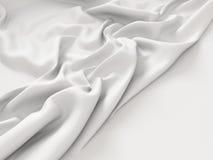 Τσαλακωμένο άσπρο υπόβαθρο σύστασης υφασμάτων υφάσματος Στοκ εικόνα με δικαίωμα ελεύθερης χρήσης
