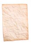 Τσαλακωμένο παλαιό και έγγραφο ρύπου για το άσπρο υπόβαθρο Στοκ εικόνα με δικαίωμα ελεύθερης χρήσης