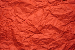 Τσαλακωμένο πορτοκάλι έγγραφο Στοκ εικόνες με δικαίωμα ελεύθερης χρήσης