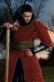 Τσεκούρι εκμετάλλευσης ιπποτών. Επιζημένος Στοκ Εικόνα
