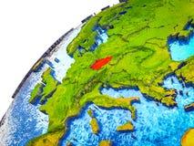 Τσεχία στην τρισδιάστατη γη στοκ εικόνα με δικαίωμα ελεύθερης χρήσης