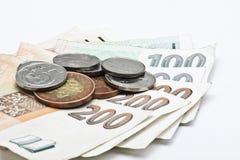 τσεχικά απομονωμένα χρήματ& Στοκ εικόνα με δικαίωμα ελεύθερης χρήσης