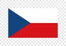 Τσεχικά - εθνική σημαία ελεύθερη απεικόνιση δικαιώματος