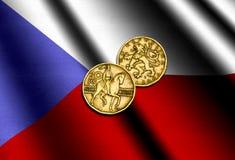 Τσεχικά χρήματα στη σημαία απεικόνιση αποθεμάτων