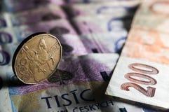 τσεχικά χρήματα Στοκ Εικόνα