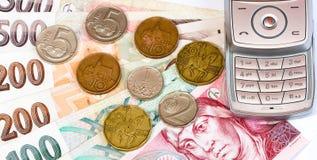 τσεχικά χρήματα Στοκ φωτογραφία με δικαίωμα ελεύθερης χρήσης