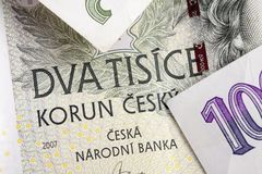 Τσεχικά korunas Στοκ φωτογραφίες με δικαίωμα ελεύθερης χρήσης